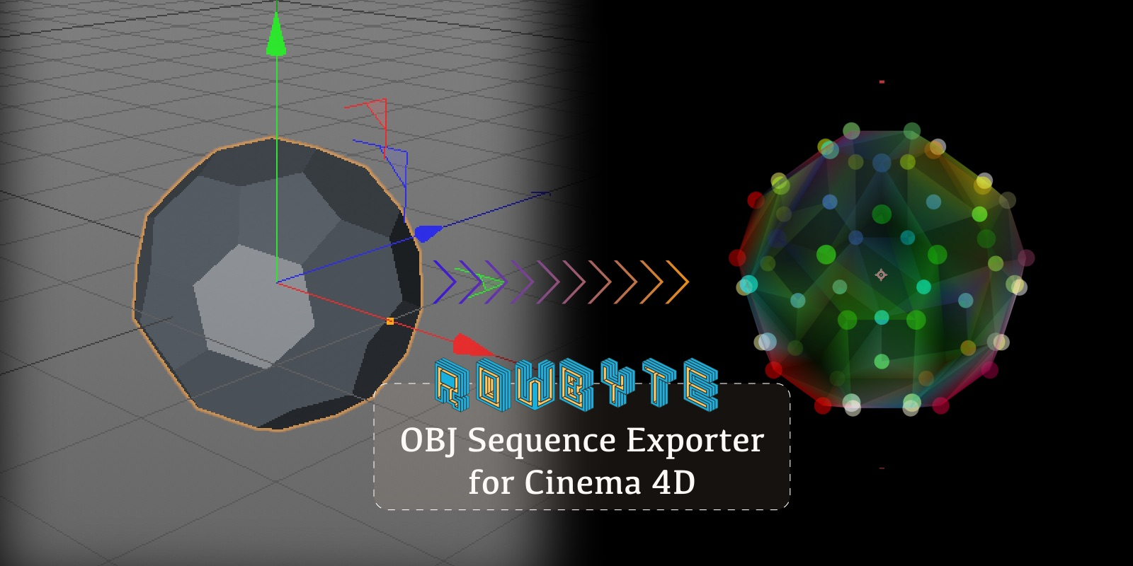 Rowbyte - Plexus OBJ Sequence Exporter For Cinema 4D Is